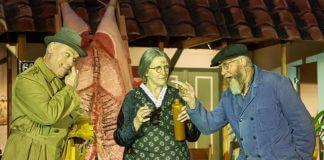 NUIS / 8-6-2012 / Openluchtspektakel 'Heur, zie en zwieg' gespeeld door Spek Om Spinnen. Het verhaal speelt zich af in de gemeente Marum gedurende de oorlogsjaren 1940-1945. / Foto: Omke Oudeman