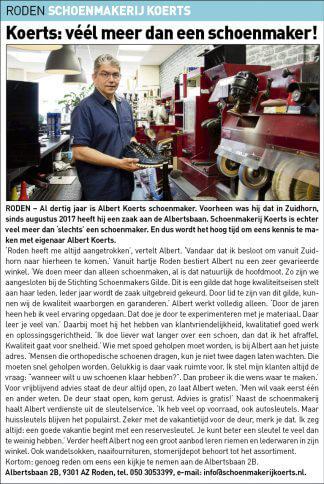 DKT-Schoenmakerij Koerts uitgelicht 25-06