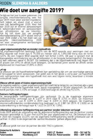 DKT-Slenema en Aalders Uitgelicht 18-02