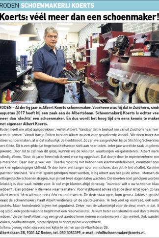 DKT-Schoenmakerij Koerts uitgelicht 09-06